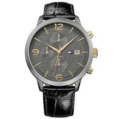 watches for men Best Watches For Men, Luxury Watches For Men, Cool Watches, Men's Watches, Watches Online, Fashion Watches, Omega Watch, Tommy Hilfiger, Black Leather