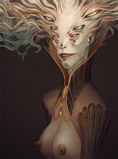 https://beautifulbizarre.net/2015/02/24/lenka-simeckova-witchcraft-and-gothic-art/          Lenka Simeckova Illustration