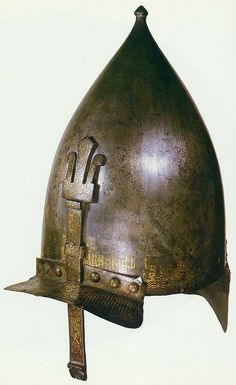 Mamluk helmet, Egypt or Syria, circa 1430, attributed to Sultan Barsbay.