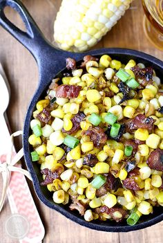 Sweet Corn with Maple-Bourbon Brown Butter and Bacon by iowagirleats #Corn #Bacon #Maple #Bourbon
