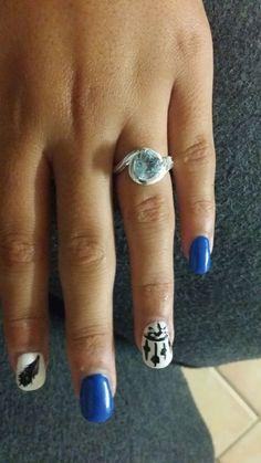 Blue Topaz, White Topaz, silver