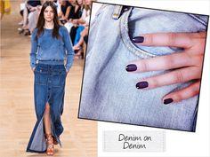 DENIM on DENIM #Nails #mat×gloss