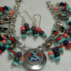 Multi colored charm bracelet at the Shopping Mall, $150.00 (USD)