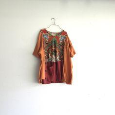 romantic oversized funky boho tshirt tunic / Eco clothing by CreoleSha, $72.00