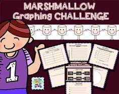 Marshmallows + basketball is a combination guaranteed to make graphing an engaging experience for your students. Set your tape measure to 3 feet and your timer to 10 seconds and see how many marshmallow baskets your students can make. Students record their shots and 4 of their classmates .