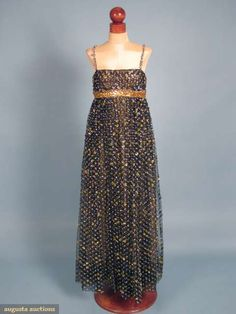 James Galanos Tinsel Trimmed Gown & Jacket, 1967, Augusta Auction