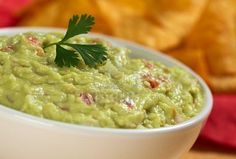 guacamole with tomatoes and onion
