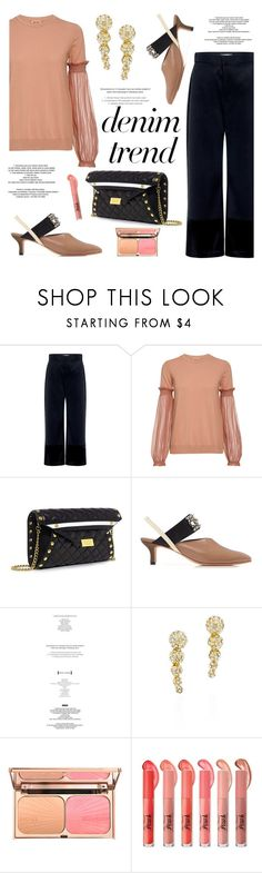 """""""Denim Trend"""" by ifchic ❤ liked on Polyvore featuring Sea, New York, N°21, Boutique Moschino, Rachel Comey, StyleNanda, Joomi Lim, contestentry, denimtrend, widelegjeans and ifchic"""