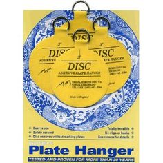 Best invention EVER for hanging plates on the wall!!! No more wrestling with stupid wire and spring hangers that chip the edges of your Grandmothers antique plates!