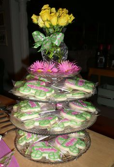 Pink and Green Baby Shower - Favor Display
