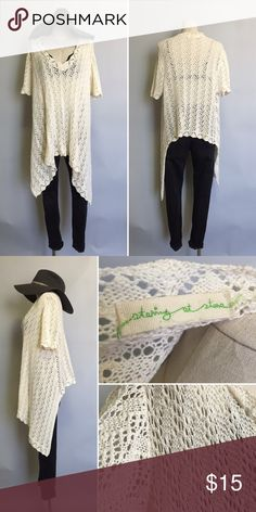 Urban Outfitters  sweater top Size : M/L. / worn once / good condition / ivory / Urban Outfitters Sweaters Crew & Scoop Necks