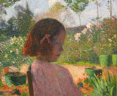urgetocreate:  Henri Martin, Portrait of Odette, 1910