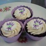 cupcakes w/ lavender design