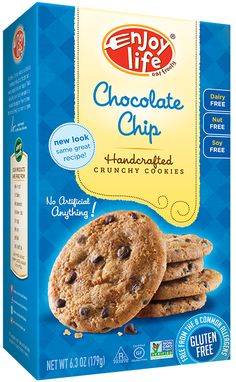 @enjoylifefoods Crunchy Chocolate Chip Cookies - GF, Dairy, Nut and Soy Free. I am not gonna lie... these are AMAZING! The whole family loved them - which was good, otherwise I'd have eaten them all. ;-)