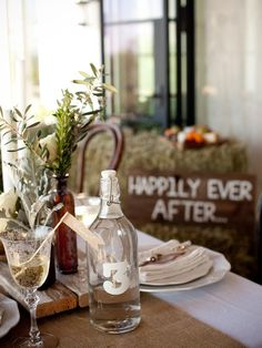 DIY Weddings: Projects and Ideas for Centerpieces: This easy and inexpensive project can be used after the wedding as cute kitchen decor.  From DIYnetwork.com