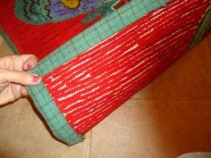 fabric edge on rug tutorial