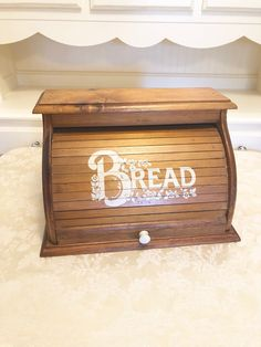 Excited to share this item from my shop: Bread Box With Design Bold Letters That Read BREAD White Knob Decor Wooden Bread Box USA Blonde Wood Bread Box With White Flowers Wooden Bread Box, Bread Boxes, Blonde Wood, Handmade Wooden, Knob, White Flowers, Toy Chest, Letters, Etsy Shop