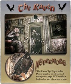 Twenty one page color, and black and white comic book versions of 'The Raven'. Designed to appeal to all ages, this product provides a visual setting for the narrative of the poem that will help the student come to a better understanding the famous work by Poe. A worksheet for students and five pages of teacher notes are also included. The PDF file can be printed, used as a computer slide show or as an e book on tablets.