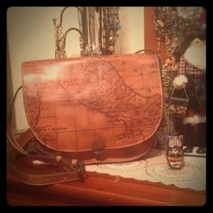 """Patricia Nash HoPo Whiskey Brown Map Purse  Patricia Nash HoPo Whiskey Brown Map Purse  Gorgeous Leather Bag NWOT Crossbody shoulder purse 13""""L X 11"""" H X 4.5 W. Comes from a non-smoking home pet free. I ship within 24 hours Monday through Friday. If you have any questions please ask!☝️ Patricia Nash Bags Crossbody Bags"""
