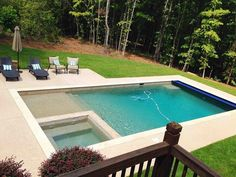 backyard pool building lowes gunite kool deck, outdoor living, pool designs, The finished product Backyard Pool Designs, Small Backyard Pools, Small Pools, Swimming Pools Backyard, Swimming Pool Designs, Backyard Patio, Lap Pools, Indoor Pools, Diy Pool
