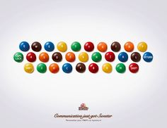 Creative Advertisement That Makes You Look Twice: M's - Communication just got Sweeter.