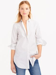 How You Can Breathe New Life Into Your Striped Shirt via @WhoWhatWear