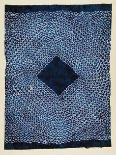 Africa | Wrapper ~ gara cloth ~ from Sierra Leone | ca. 1977 | Cotton; Damask, Tie-dyed