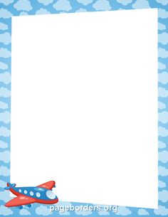 Free airplane border templates including printable border paper and clip art versions. Borders Free, Page Borders, Borders For Paper, Borders And Frames, Printable Border, Printable Labels, Border Templates, Scrapbook Frames, Kids Background