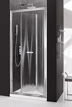 Arblu - VEGA NICCHIA / 2 ANTE A SOFFIETTO: Parete doccia con telaio H. 190 cm / Cristallo temperato sp. 6 mm
