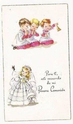 century Holy Card - First Communion Prayer Warrior, First Communion, Sweet Memories, Vintage Christmas, Catholic, Retro, Bible Songs, Prayers, Princess Zelda