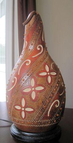 Flower gourd lamp