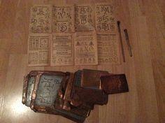 124 alte Kupferschablonen Sticken Wäscheschablonen Wäschezeichen und Sticken…