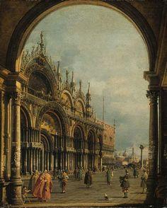 My Love Italy, aleyma:   Canaletto, St Mark's Venice, c.1756...