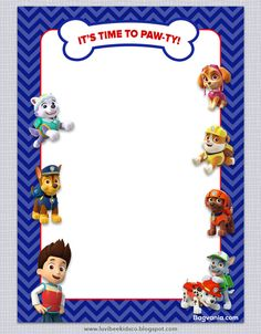 Download Free Paw Patrol Birthday Invitations