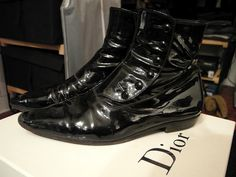 Dior Homme by Hedi Slimane fall-winter 2006/07 patent boots.