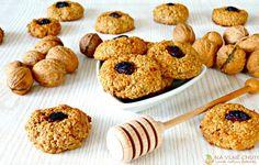 Ořechové ovesné sušenky s banánem, jablíčkem, skořicí, medem a brusinkami – Na vlně chuti – Jitčiny Dobroty