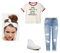 """casual"" by paigeroseman12 on Polyvore featuring Miss Selfridge, Converse and New Look"