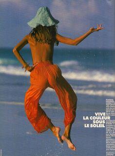 Roberta Chirko by Gilles Bensimon for ELLE France - June 1988