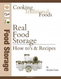 real food storage recipes