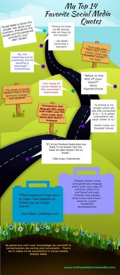 Favorite Social Media Quotes, via On the web social media.  http://www.buyrealmarketing.com/ #Infographic #socialmedia #marketing