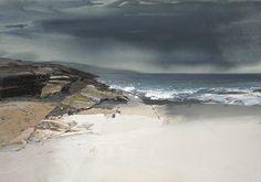 Chris Bushe RSW Gentle Rain, White Sands, Islay