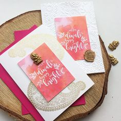 MODERN DIWALI CARDS// October Finally getting some Diwali cards out, will be taking orders for our new handcrafted cards. we've got limited stock of gold Ganesha ( please get orders in soon, last U. Post is October) Diy Diwali Cards, Handmade Diwali Greeting Cards, Diy Diwali Gifts, Diwali Card Making, Homemade Greeting Cards, Handmade Cards, Diy Gifts, Handmade Gifts, Thali Decoration Ideas