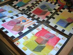 Fine Lines: 4th Grade tumbling blocks