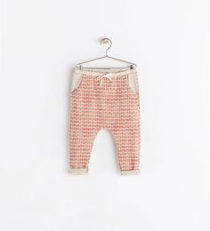 Image 1 of FLORAL-PRINT TROUSERS from Zara
