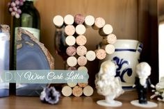 Crafting our initial out of wine corks from our wedding | ItTakesTwoBlog.com
