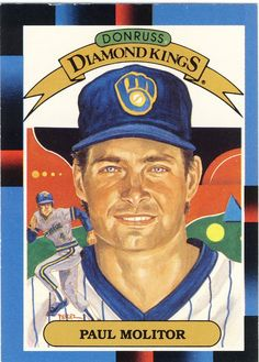 1988 Donruss Diamond Kings Paul Molitor