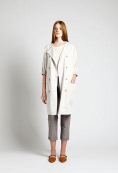 Ron T-shirt, Echo Coat and Dali Trousers | Samuji SS14 Classic Collection