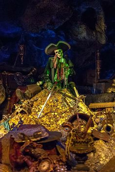 Pirates of the Caribbean ride. There be treasure ahead... my brother told me it was real & if I jumped out I could keep what I grabbed. Jerk! LOL