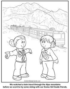 Swiss Girl Guide Coloring Page