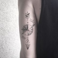 Geometric Compass Tattoo by Balazs Bercsenyi